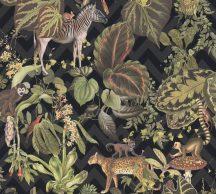 As-Creation Michalsky-Change is Good 37990-1 Natur Dzsungel Trópusi életkép Michalsky stílusában fekete szürke szines tapéta