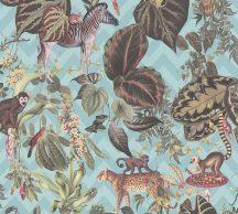 As-Creation Michalsky-Change is Good 37990-4 Natur Dzsungel Trópusi életkép Michalsky stílusában kék zöld szines tapéta