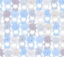 """As-Creation Little Love 38129-1 Gyerekszobai """"Tömeges"""" Teddy mackó megjelenítés fehér kék szürke lila tapéta"""