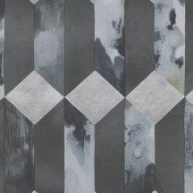 Eijffinger ENSO 386502  modern geometrikus 3D márvány fekete szürke ezüstszürke tapéta