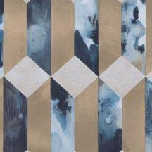 Eijffinger ENSO 386504  modern geometrikus 3D márvány bézs kék rézszín szürke fémes hatás tapéta
