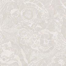 Eijffinger ENSO 386510 rusztikus virágok növények bézs törtfehér csillogó fémes fény tapéta
