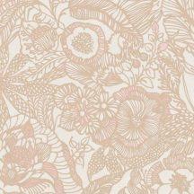 Eijffinger ENSO 386514  rusztikus virágok növények ecru pink terra csillogó fémes fény tapéta
