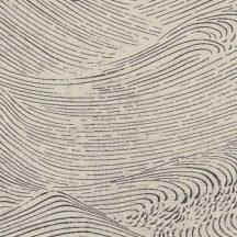 Eijffinger ENSO 386531 absztrakt natur fodrozódó hullámok gyöngyházfényű bézs fekete tapéta
