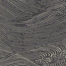 Eijffinger ENSO 386532 absztrakt natur fodrozódó hullámok fekete fehér tapéta