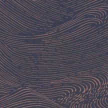 Eijffinger ENSO 386533 absztrakt natur fodrozódó hullámok sötétkék rézszín tapéta