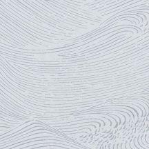 Eijffinger ENSO 386534 absztrakt natur fodrozódó hullámok halvány szürke ezüstszürke tapéta
