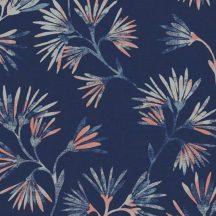 Eijffinger ENSO 386542 natur botanikus virágos mélykék fémes korallszín világoskék bézs tapéta