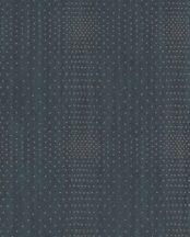 Eijffinger Topaz 394512 SPARKLE Geometrikus fémes pontokkal kialakított négyzet minta petrolkék rézszín tapéta