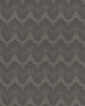 Eijffinger Topaz 394524 WAVE Grafikus Chevron /cikk-cakk/ minta szürkésbézs barna szürkésbarna fémes hatás tapéta