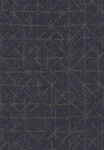 Eijffinger Topaz 394534 GRAPHIC Absztrakt grafikus szürkéskék csillogó aranybarna fémes hatás tapéta