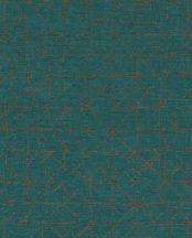 Eijffinger Topaz 394536 GRAPHIC Absztrakt grafikus sötét smaragdzöld csillogó bézsarany fémes hatás tapéta