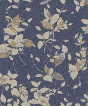 Rasch Uptown 402544  Natur levelek kék bézs arany csillogó mintarészletek tapéta