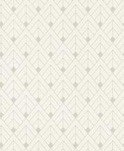 Rasch Sofia 403329 Geometrikus csillogó vonalakkal kialakított minta törtfehér ezüst tapéta