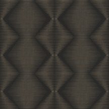 Rasch Denzo 406450 Geometrikus grafikus cikk-cakk mintázat vonalmintás alapon szürkésbarna fekete tapéta