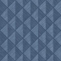 Rasch Denzo 407433 Geometrikus három és négyszögek világos és sötétkék árnyalatok tapéta