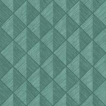 Rasch Denzo 407440 Geometrikus három és négyszögek türkizzöld árnyalatok tapéta