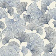 Rasch Denzo 407655 Organikus növényi motívum krémfehér kék és szürke árnyalatok tapéta