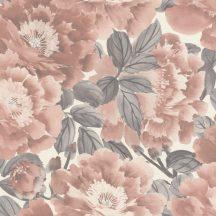 """Rasch KIMONO 408331 Natur Virágos """"teljes virágzásban"""" természeti látvány krémfehér szürke világos vörösesbarna tapéta"""