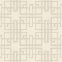 Rasch KIMONO 409239 Etno Grafikus Teaház architektúra textil strutúra krémfehér ezüstösen csillogó szürkésbézs vonalak
