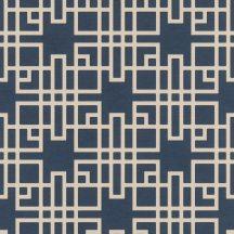Rasch KIMONO 409253 Etno Grafikus Teaház architektúra textil strutúra indigókék krémfehér vonalak tapéta