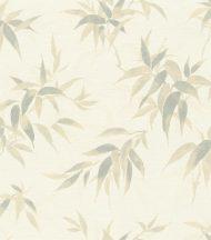 Rasch KIMONO 409741 Natur Dekoratív bambusz levelek textilstruktúra krémfehér bézs kékes zöld tapéta