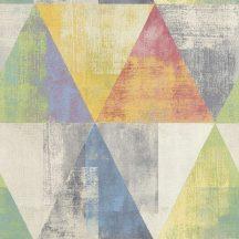 Rasch Hyde Park/Make a Change 410914  Vintage háromszögek szines tapéta