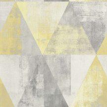 Rasch Hyde Park/Make a Change 410921  Vintage háromszögek szürke sárga krém tapéta