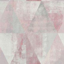 Rasch Hyde Park 410938  Vintage háromszögek rózsaszín szürke tapéta