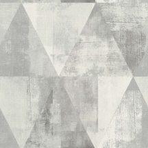 Rasch Hyde Park 410945  Vintage háromszögek szürke fehér tapéta