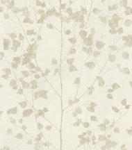 Rasch Finca 416619 Natur finom ágak - levelek krémfehér bézsarany enyhe fény tapéta