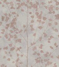 Finca 416633  Natur finom ágak - levelek világos szürke rosé/halvány vörösréz enyhe fény tapét