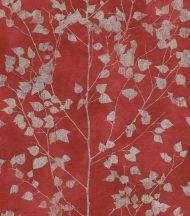 Rasch Finca 416640  Natur finom ágak - levelek vörös ezüst enyhe fény tapéta