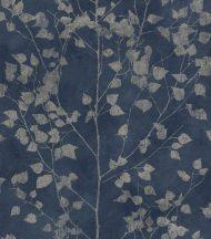 Rasch Finca 416657  Natur finom ágak - levelek éjkék bézsarany enyhe fény tapéta