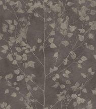 Finca 416664  Natur finom ágak - levelek bézs sötét szürkésbarna bézsarany enyhe fény tapéta
