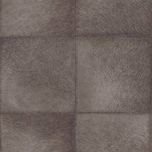Rasch CLUB 419139  Natur Etno Állatszőr utánzat négyzetekbe rendezve szürkésbarna barna árnyalatok tapéta