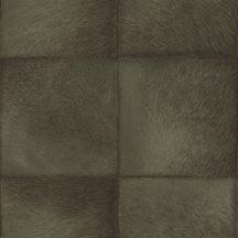 Rasch CLUB 419146  Natur Etno Állatszőr utánzat négyzetekbe rendezve khakizöld és zöldes szürke árnyalatok tapéta