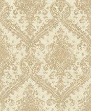 Rasch Saphira 420524 Klasszikus pazar barokk díszítőminta bézs/bézsarany arany fényes mintafelület tapéta