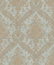 Rasch Saphira 420531 Klasszikus pazar barokk díszítőminta porkék arany fényes mintafelület tapéta