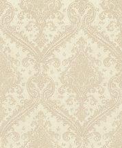 Rasch Saphira 420555 Klasszikus pazar barokk díszítőminta meleg krémszín világos arany fényes mintafelület tapéta
