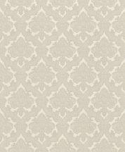 Rasch Saphira 420920 Klasszikus rokokó díszítőminta finoman csillogó vászonstruktúra krém szürkésbézs világos ezüstkék tapéta