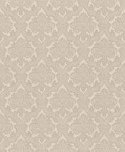 Rasch Saphira 420937 Klasszikus rokokó díszítőminta finoman csillogó vászonstruktúra bézs szürkésbézs világos ezüstkék tapéta