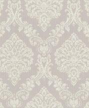 Rasch Saphira 421125 Klasszikus impozáns rokokó díszítőminta világos szürke/szürkésbézs krémszín finom színátmenet tapéta