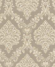 Rasch Saphira 421149 Klasszikus impozáns rokokó díszítőminta szürkésbarna krémszín finom színátmenet tapéta
