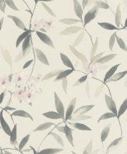 Rasch Poetry 424904 natur akvarell virágok textil krémszín füstös zöld szürke tapéta