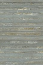 Ipari design hullámos acéllemez rozsdafoltokkal arany csillogással acélkék szürke arany falpanel