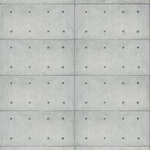 betonlapok fúrólyukakkal lineáris mintasorba rendezve betonszürke világos szürke falpanel