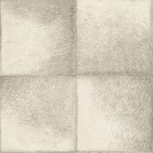 Rasch Brick Lane/CLUB 425901 Natur rusztikus állatszőr minta négyzetekbe rendezve fehér szürke tapéta