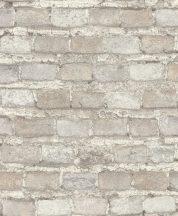 Rasch Factory IV 428049 Natur/Ipari design meszelt érdes felületű téglafal mészfehér szürke szürkésbézs halvány téglapiros tapéta