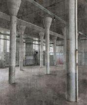 Rasch Factory IV  429725 Ipari deign elhagyott gyár/raktárterem fehér szürke fekete falpanel